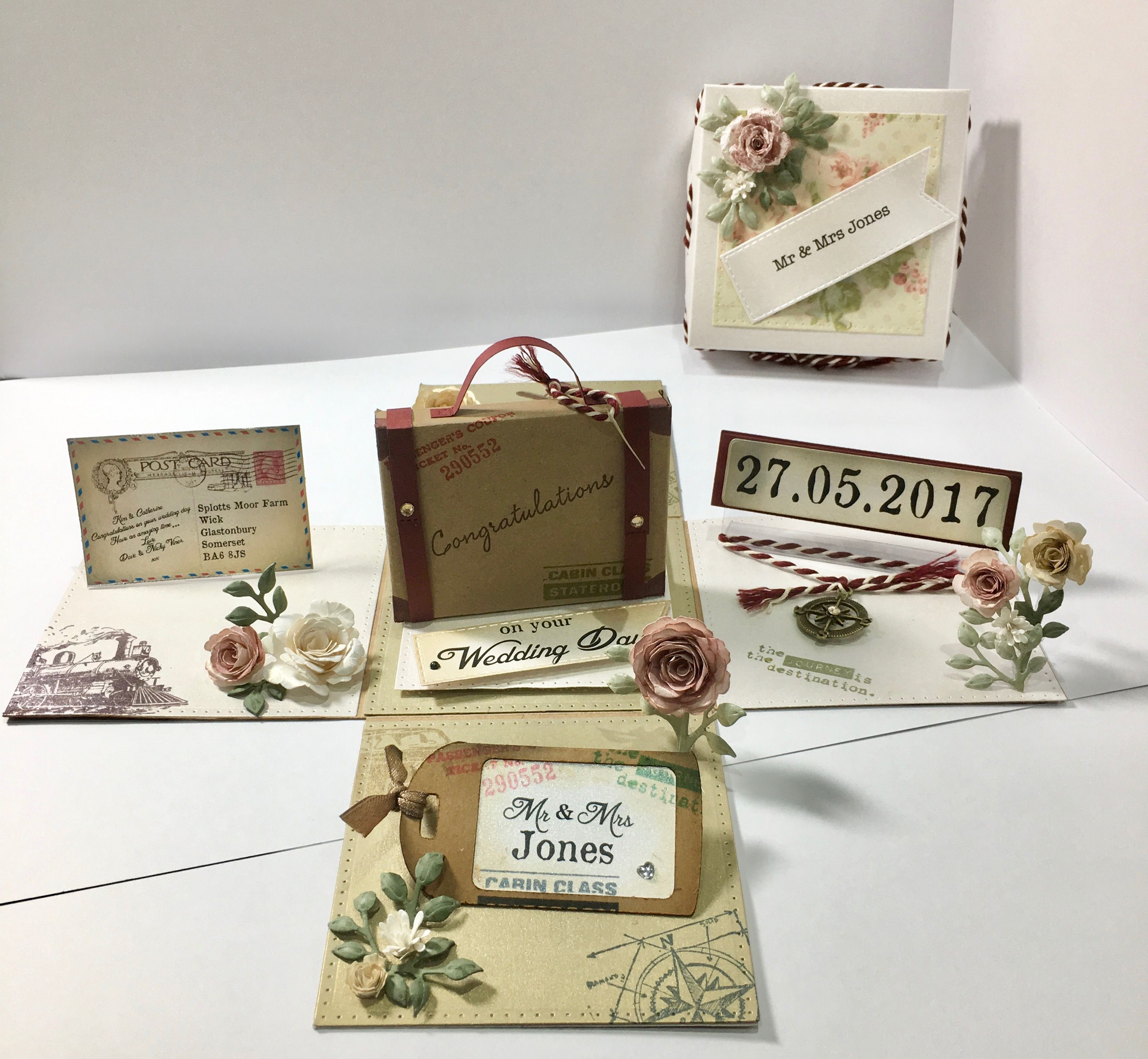 Exploding Box - Vintage Travel Wedding   My cards   Pinterest ...