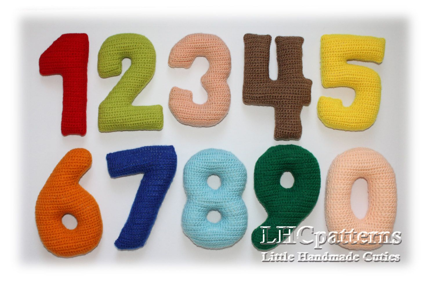 Crochet Numbers Pattern, 0-9 Numbers Crochet Pattern by LHCpatterns ...