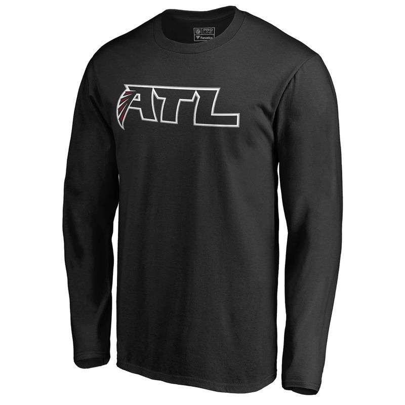 Men s NFL Pro Line Black Atlanta Falcons Alternate Logo Long Sleeve T-Shirt 94a4865e3