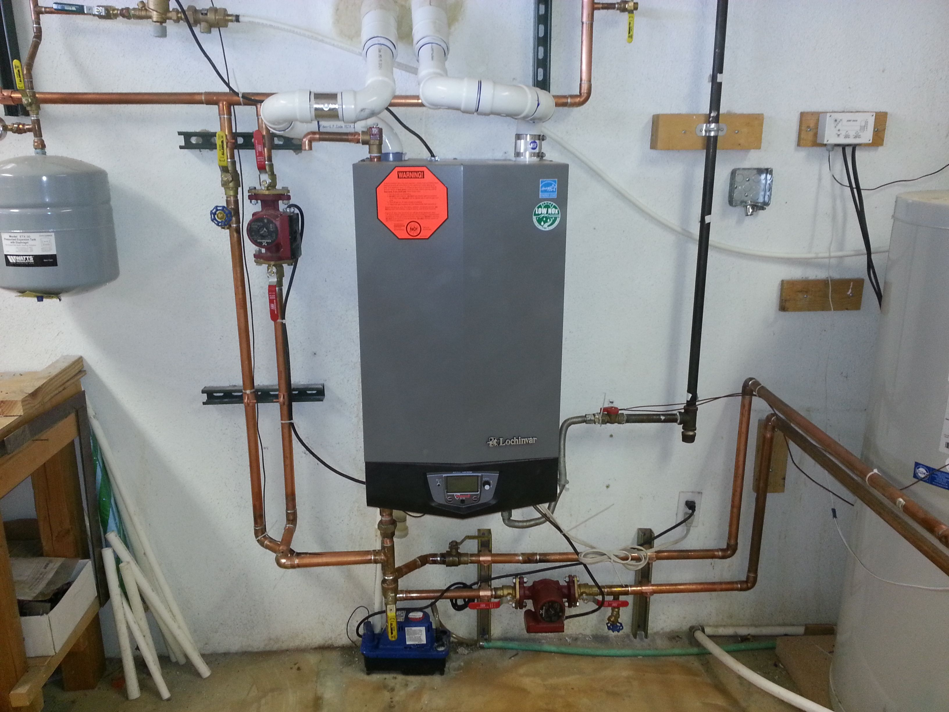 Knight modulating condensing boiler wall mount solar for Small heating systems