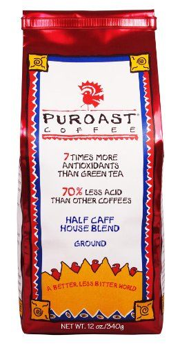 Puroast Low Acid Coffee Half Caff House Blend Drip Grind 075Pound Bag Pack of 2 * For more information, visit image link.Note:It is affiliate link to Amazon.