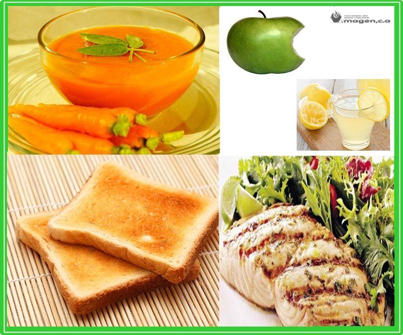 Comidas para gastritis dieta