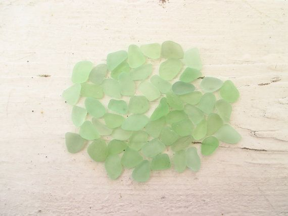 Bulk Lot of 50 Small // SOFT GREEN  // Genuine Sea Glass by GitanaDeLaPlaya, $13.99