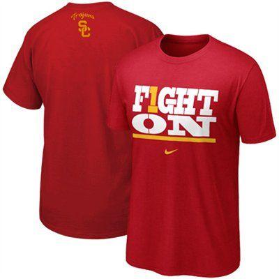 e55090ca3d Nike USC Trojans Fight On My School T-Shirt - Cardinal | Clothes ...
