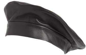 5aa4ac9481bda CLYDE Lambskin Leather Beret