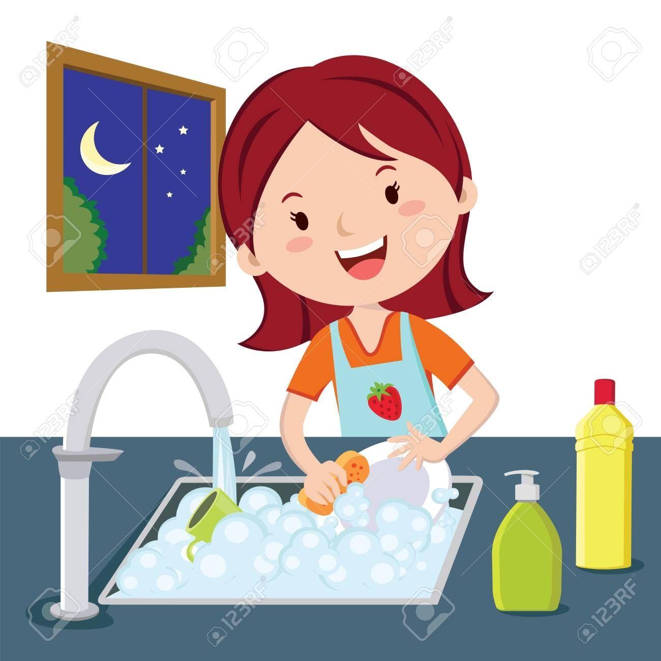 Wash Dishes Clipart Ideas Clip Art Washing Dishes Cartoon Kids