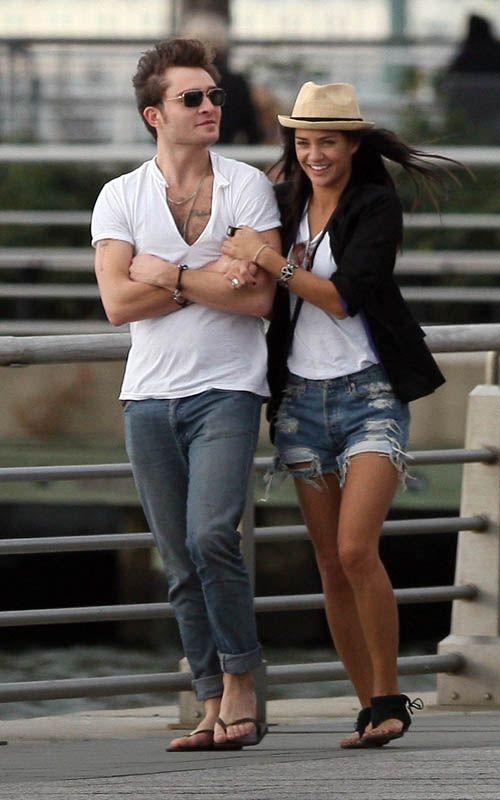 Jessica Szohr And Ed Westwick 2013