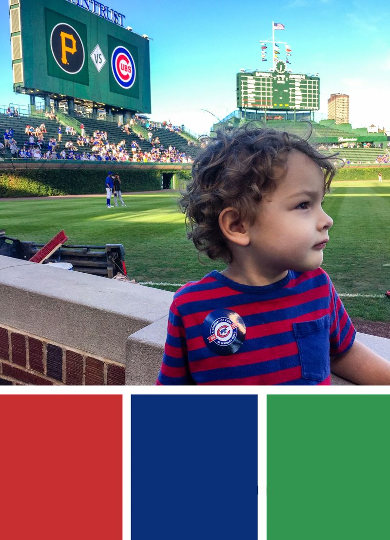 Color Inspiration Cubs Baseball Game At Wrigley Field Wedding