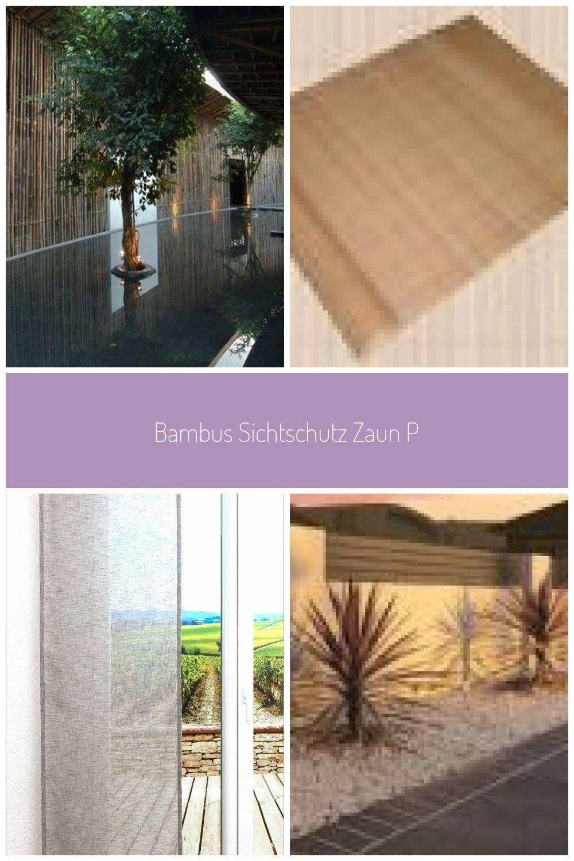 Bambus Sichtschutz Zaun Pool Baume Bambussichtschutz Bambus