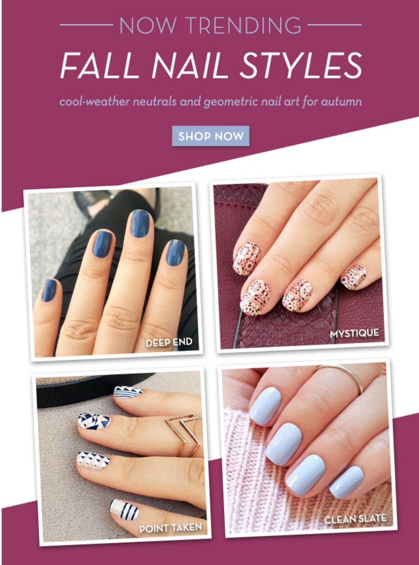 Fall nail styles @incoco | Nail Looks | Pinterest | 2017 makeup and ...
