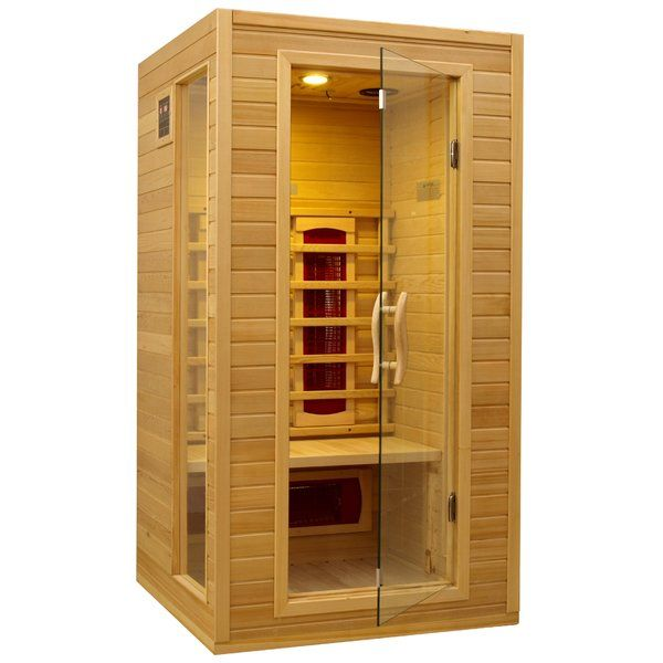 The Dynamic Infrared 1 2 Person Far Infrared Sauna Has Four Efficient Heaters That Can Create The Ideal Environment It Ha Hot Tubs Saunas Infrared Sauna Sauna