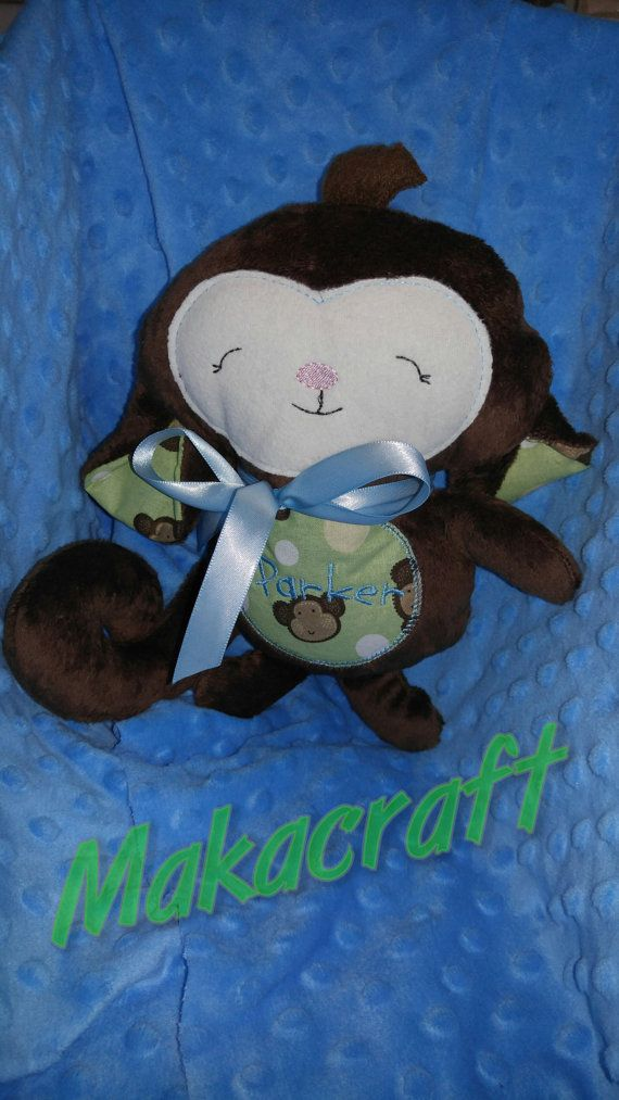 11 inch Stuffed Plush Monkey  Can be Customized and by MakaCraft