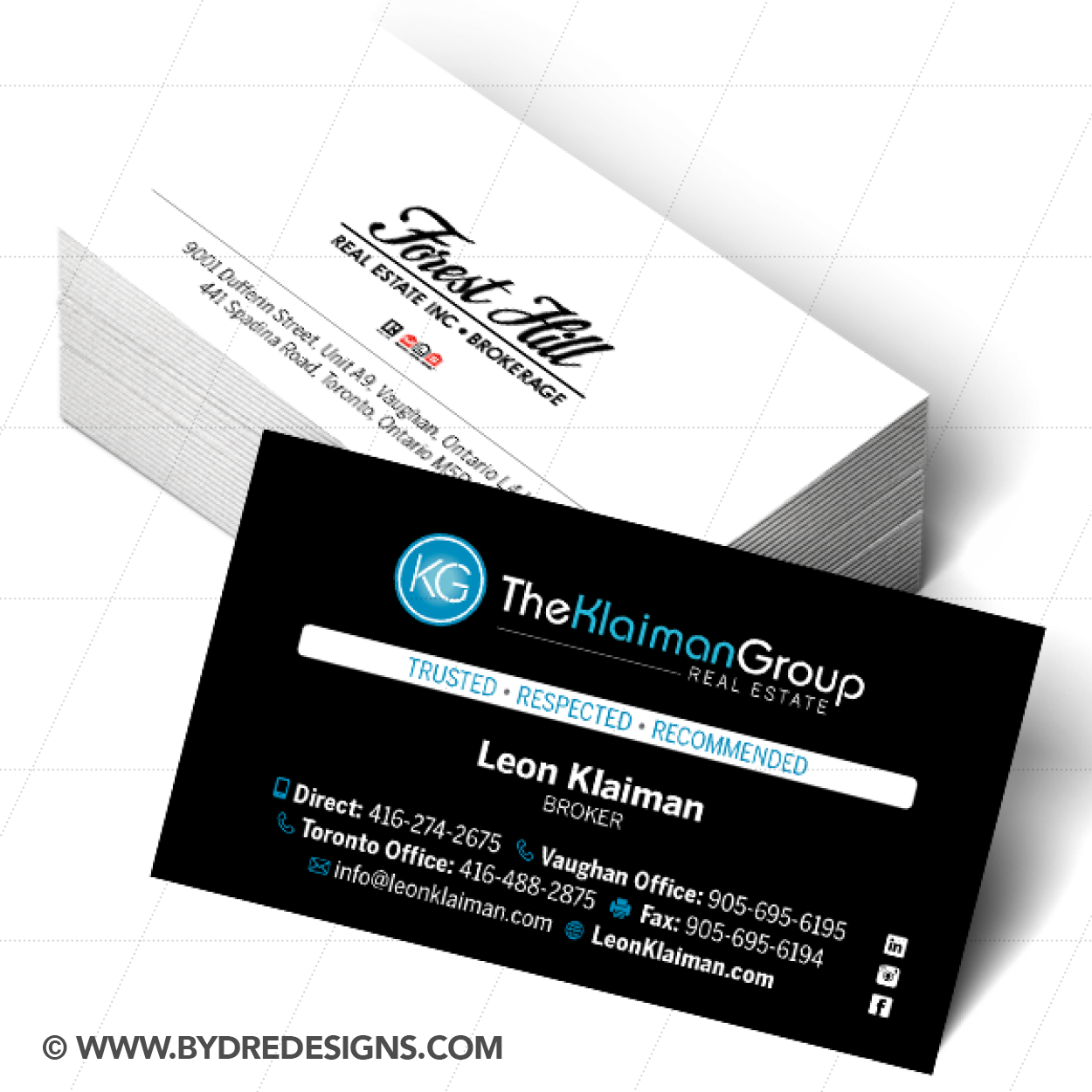 Business Card Design Brand Development For Leon Klaiman At The Group Forest Hill