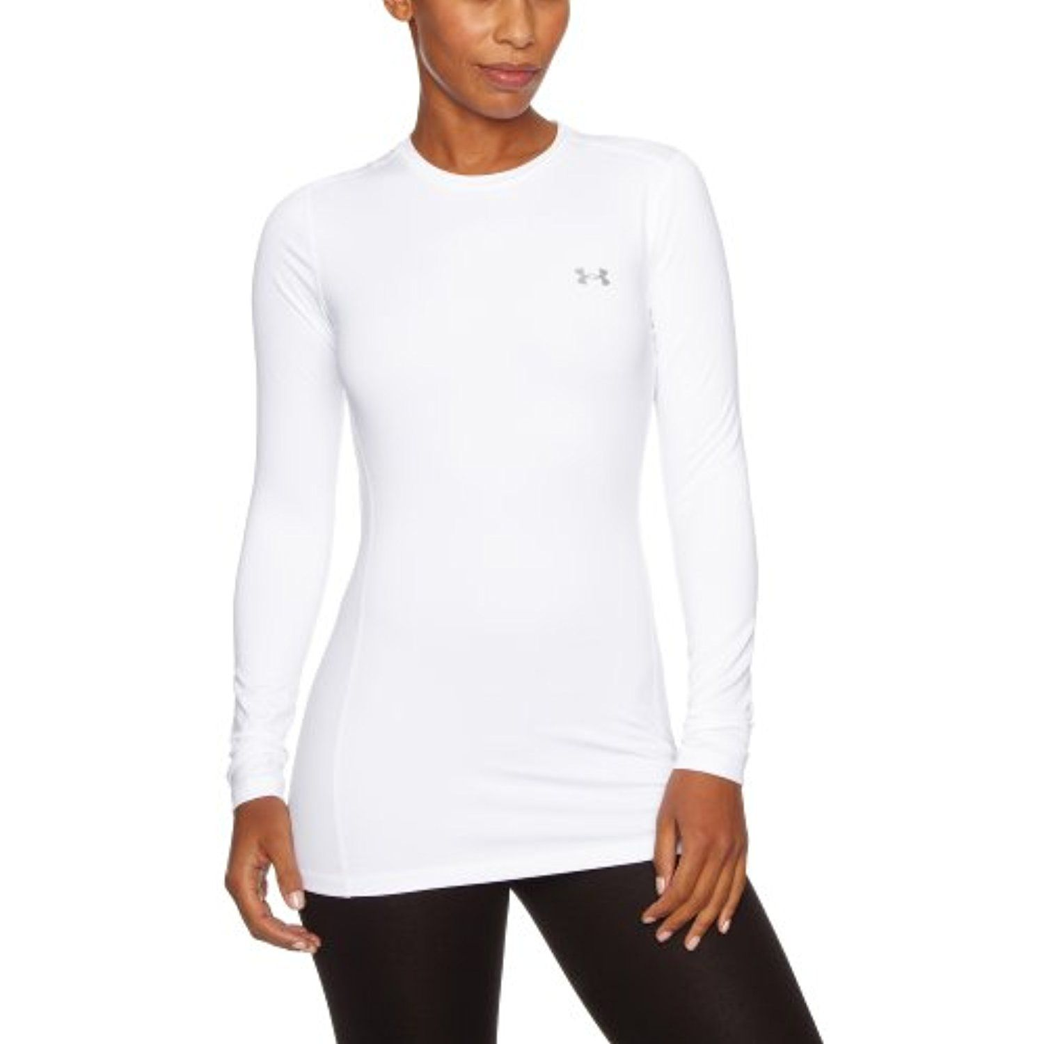 a72fbf5b710954 Under Armour Women's ColdGear Authentic Crew ** Click image to review more  details. (This is an affiliate link) #Shirts