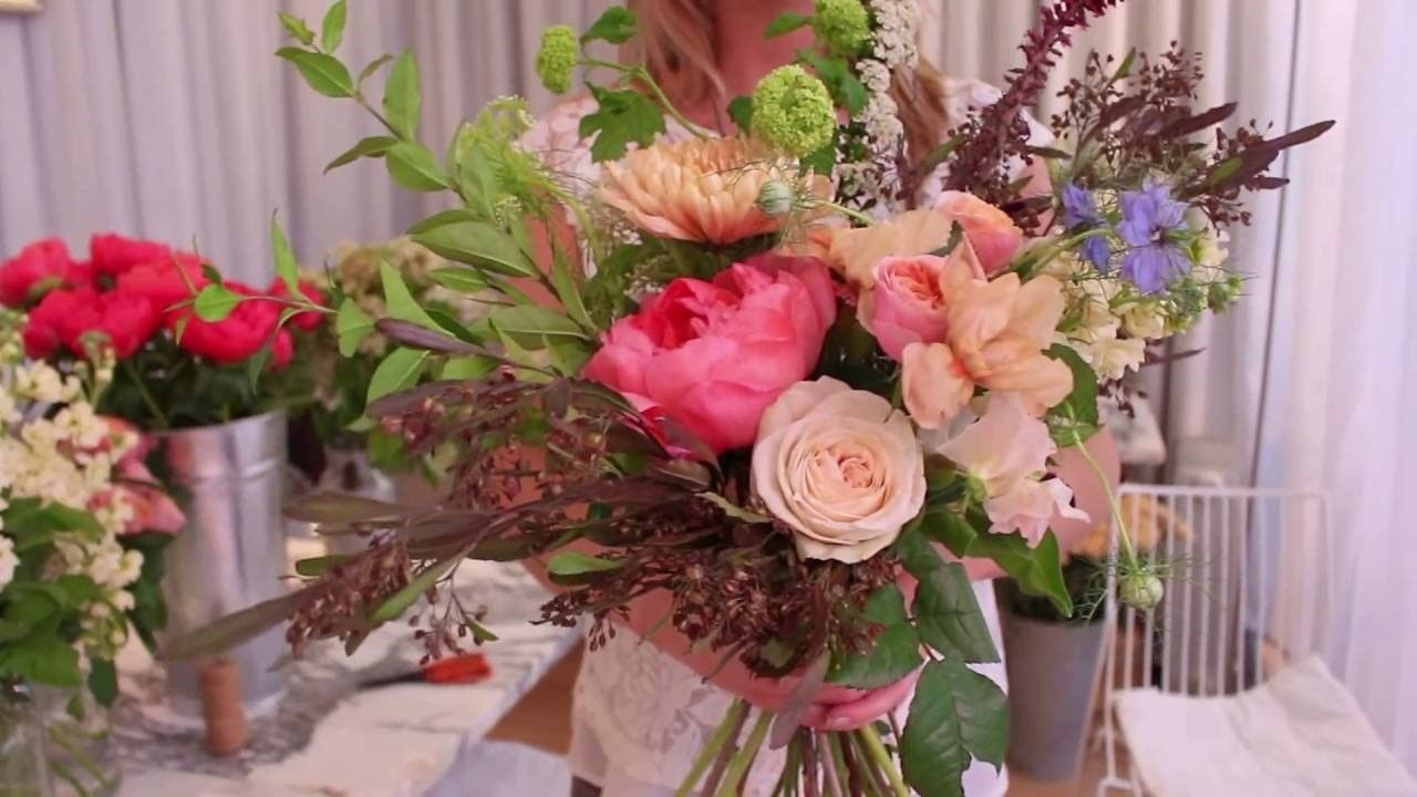 How to make a hand-tied flower bouquet | Pinterest | Flower bouquets ...