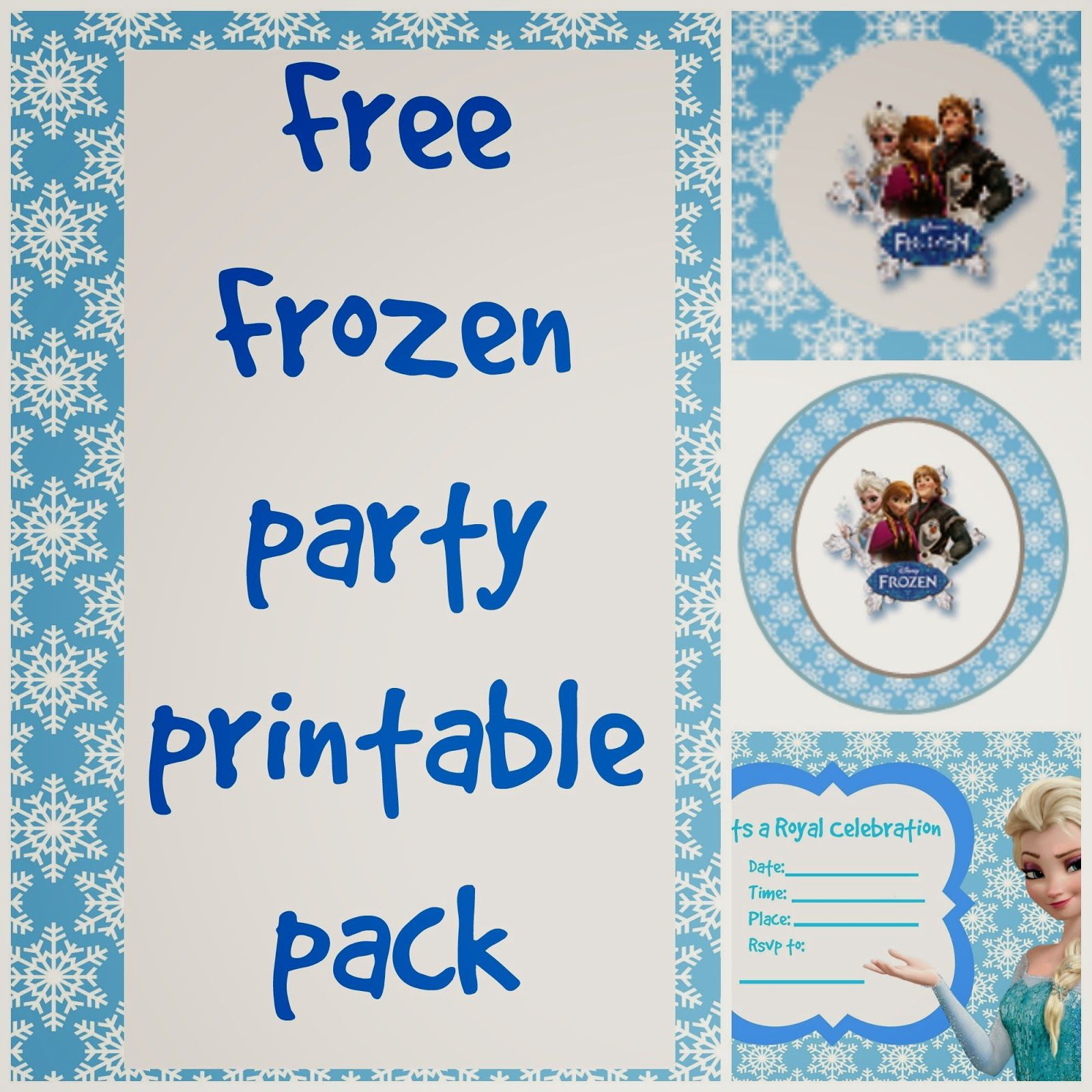 Random Ramblings: Free Frozen Printable Party Pack