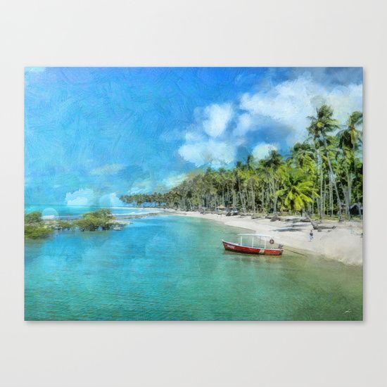 Praia de Carneiros Canvas Print by Diretório Do Design - $85.00