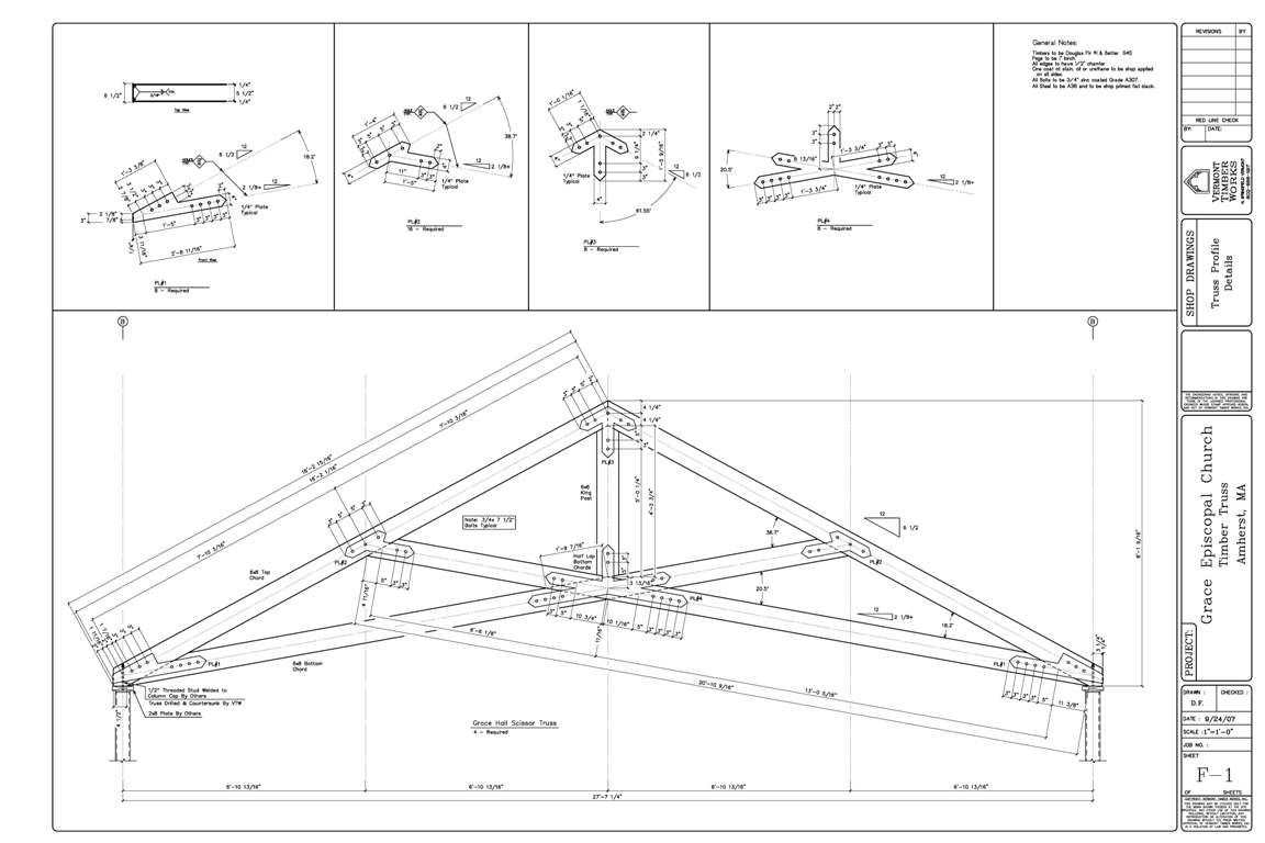 Shop Drawings Of Timber Scissor Truss Projects In 2019