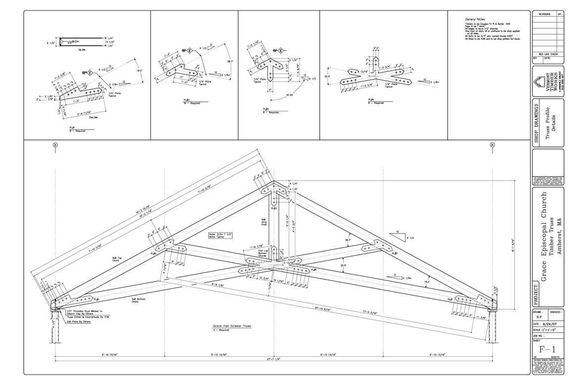 Shop Drawings Of Timber Scissor Truss Scissor Truss Timber Frame Construction Wood Truss