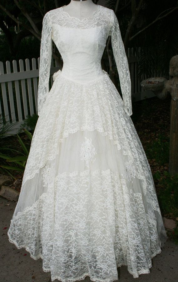 We Were Meant To Be Circa 1950\'s Wedding Gown by CallMeChula ...