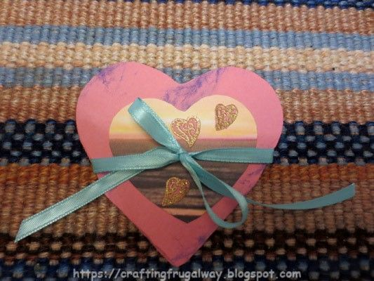 Crafting The Frugal Way Front of exploding heart card.