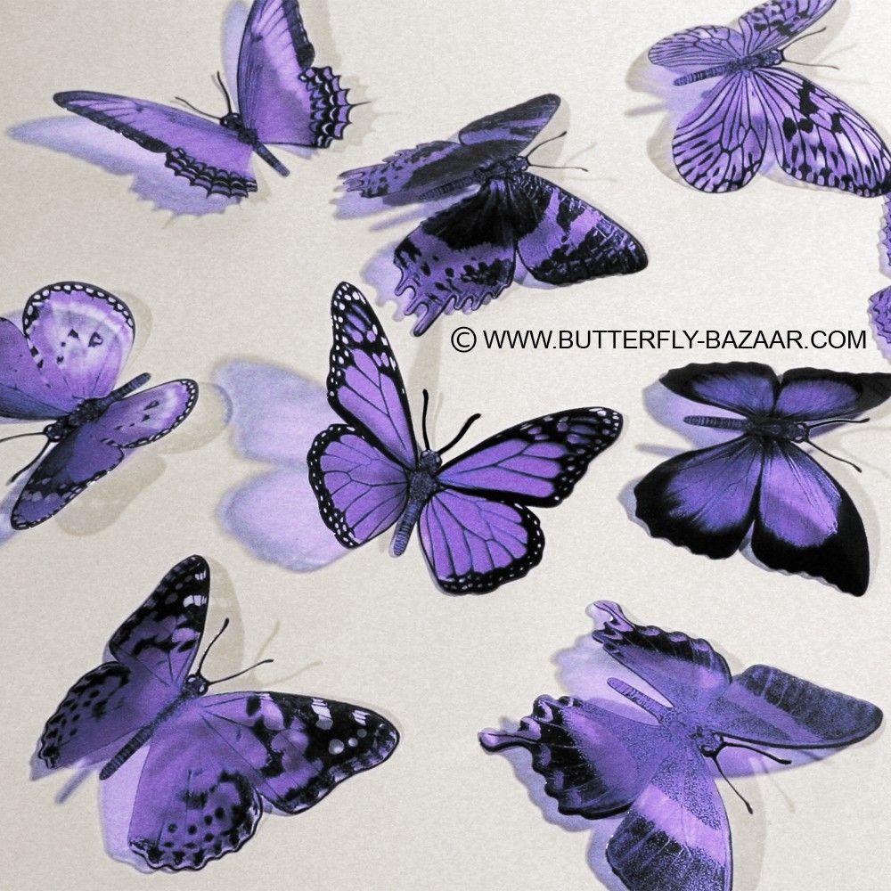 3d Butterflies In Lilac Pastel Light Purple Lavender 12x 12 00