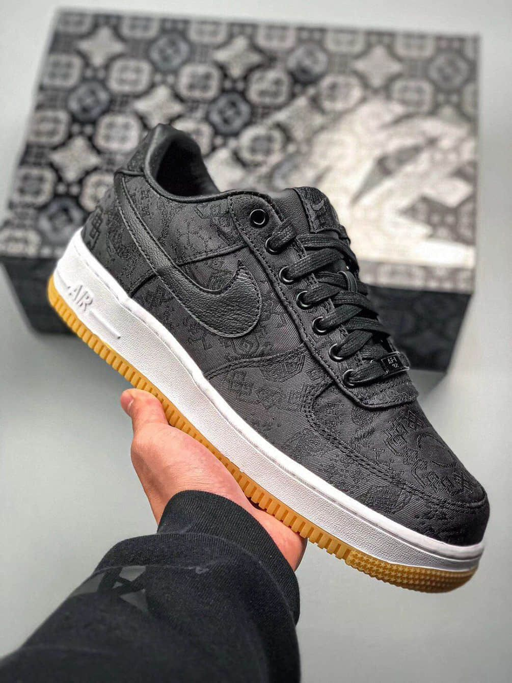 "Fake Fragment x Clot x Nike Air Force 1 ""Black Silk"" Shoes"