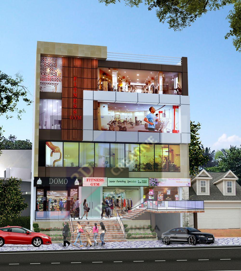 50 X55 Best 3d Commercial Complex Small House Design Exterior Commercial Design Exterior Commercial Building Plans