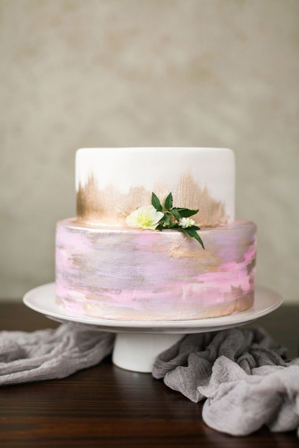 Enchanting Wedding Flowers In Peach And Plum Gold CakeRustic