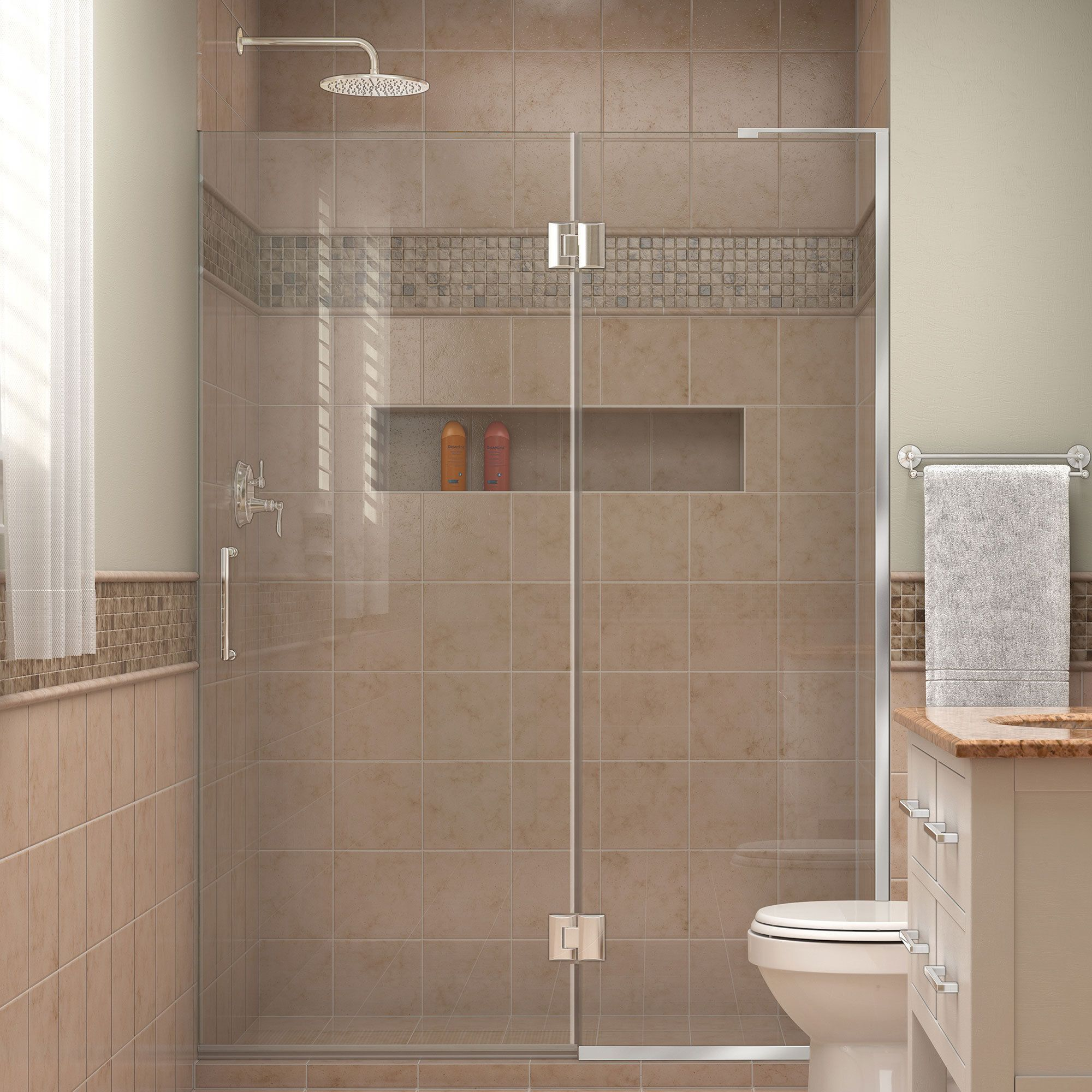 DreamLine Unidoor-X 50 in. W x 72 in. H Hinged Shower Door (Chrome ...