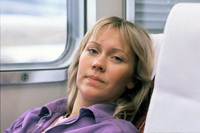 Not too much glamour here... ABBA traveling through Japan in March 1980.