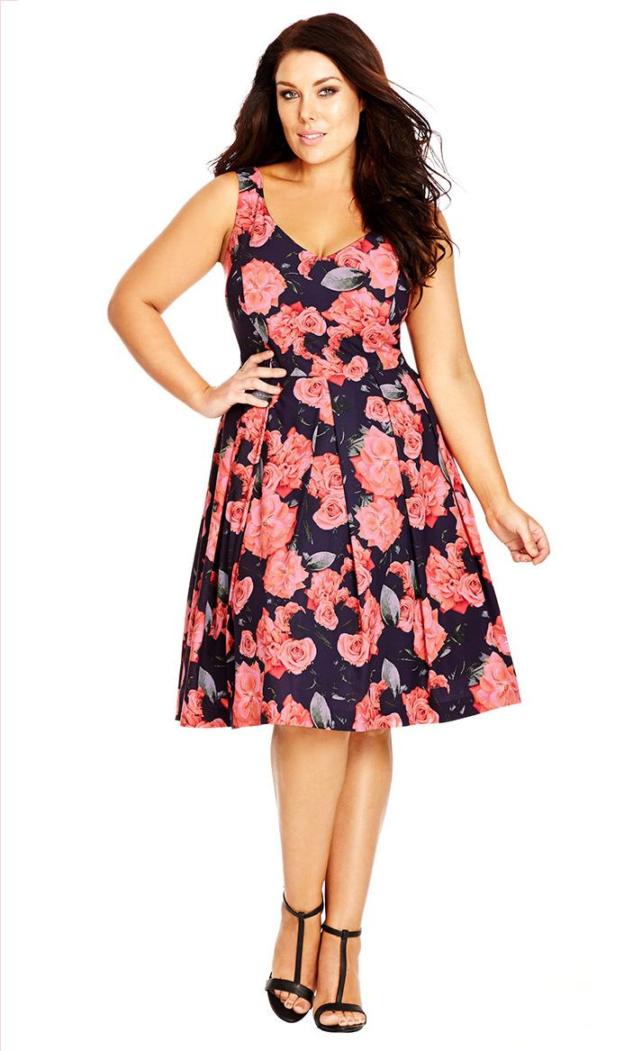 City Chic Rosey Posey Dress Women S Plus Size Fashion City Chic Dresses Plus Size Fashion Plus Size Dresses