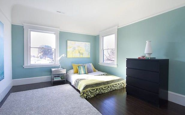Teal+yellow+and+gray+sitting+room | Yellow Bedroom Walls With