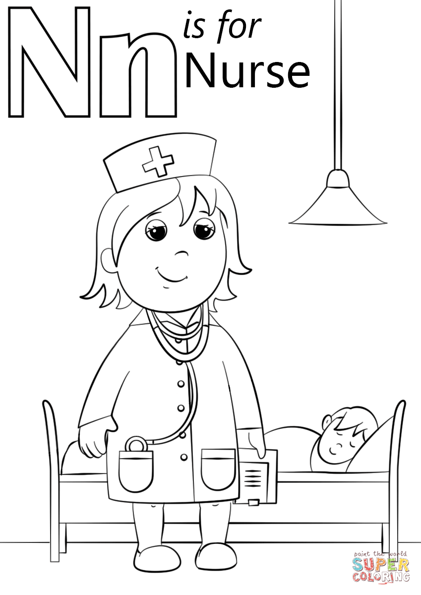 N Is For Nurse Super Coloring Nurse Crafts Free Preschool