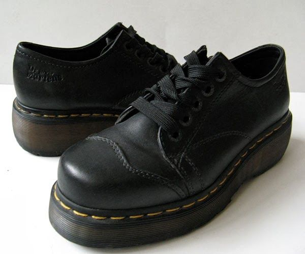 c03e00c394c3 DR. MARTENS DOC MARTENS BLACK PLATFORM OXFORD SHOES WOMENS