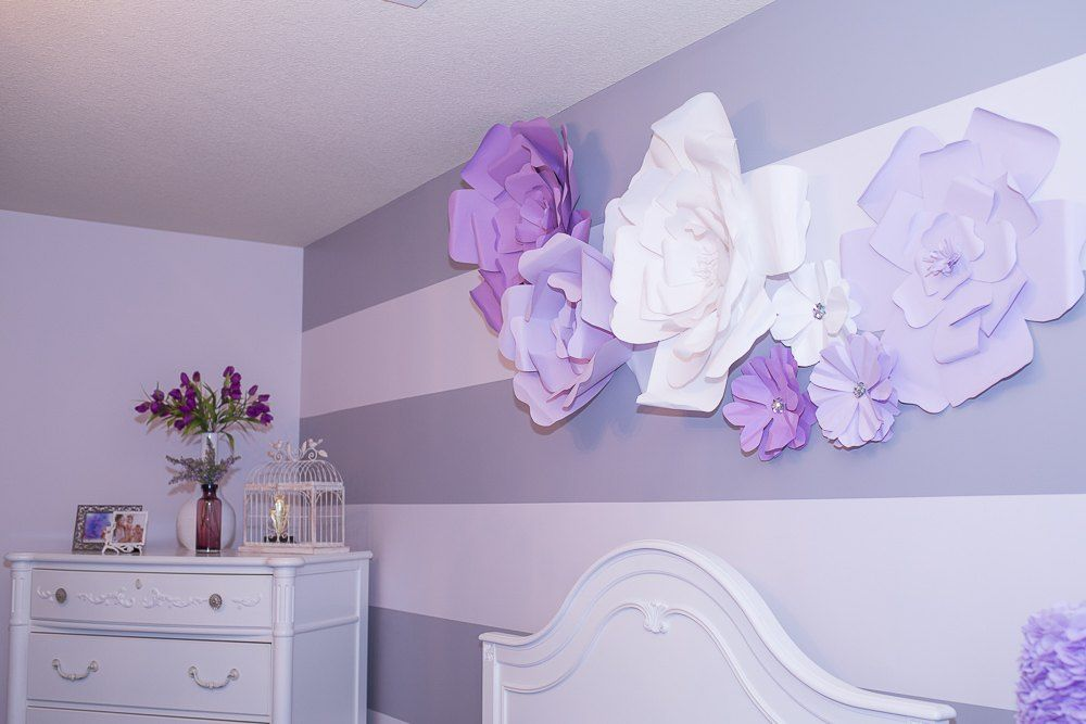 DIY Large Paper Flowers (Wall Decor And Above Bed) Cute Idea!