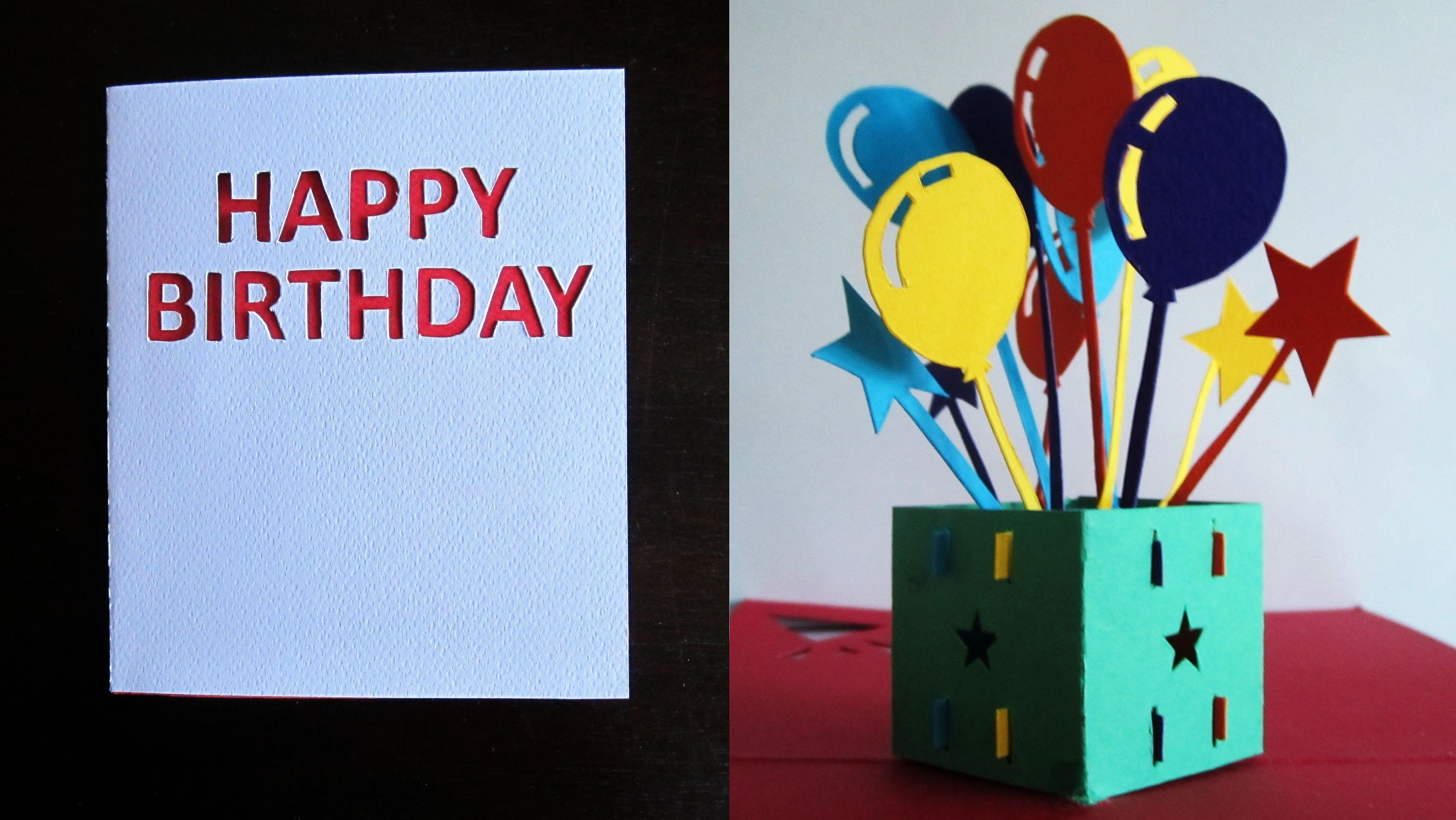 Birthday Pop Up Card Balloon Star Popup Box Ezycraft Pop Up Card Templates Flower Birthday Cards Diy Gift Card