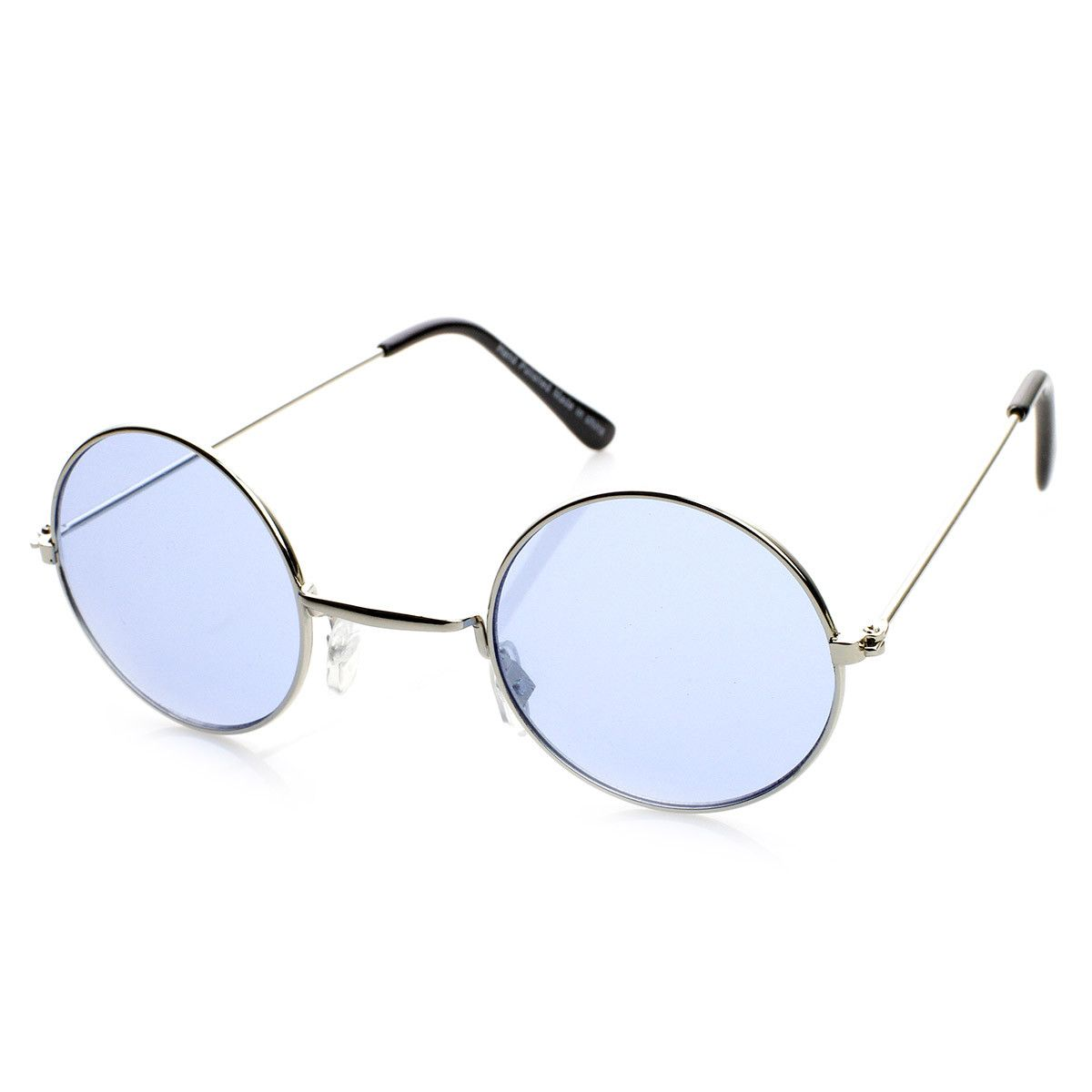 Classic Small Metal Lennon Style Color Tinted Round Sunglasses