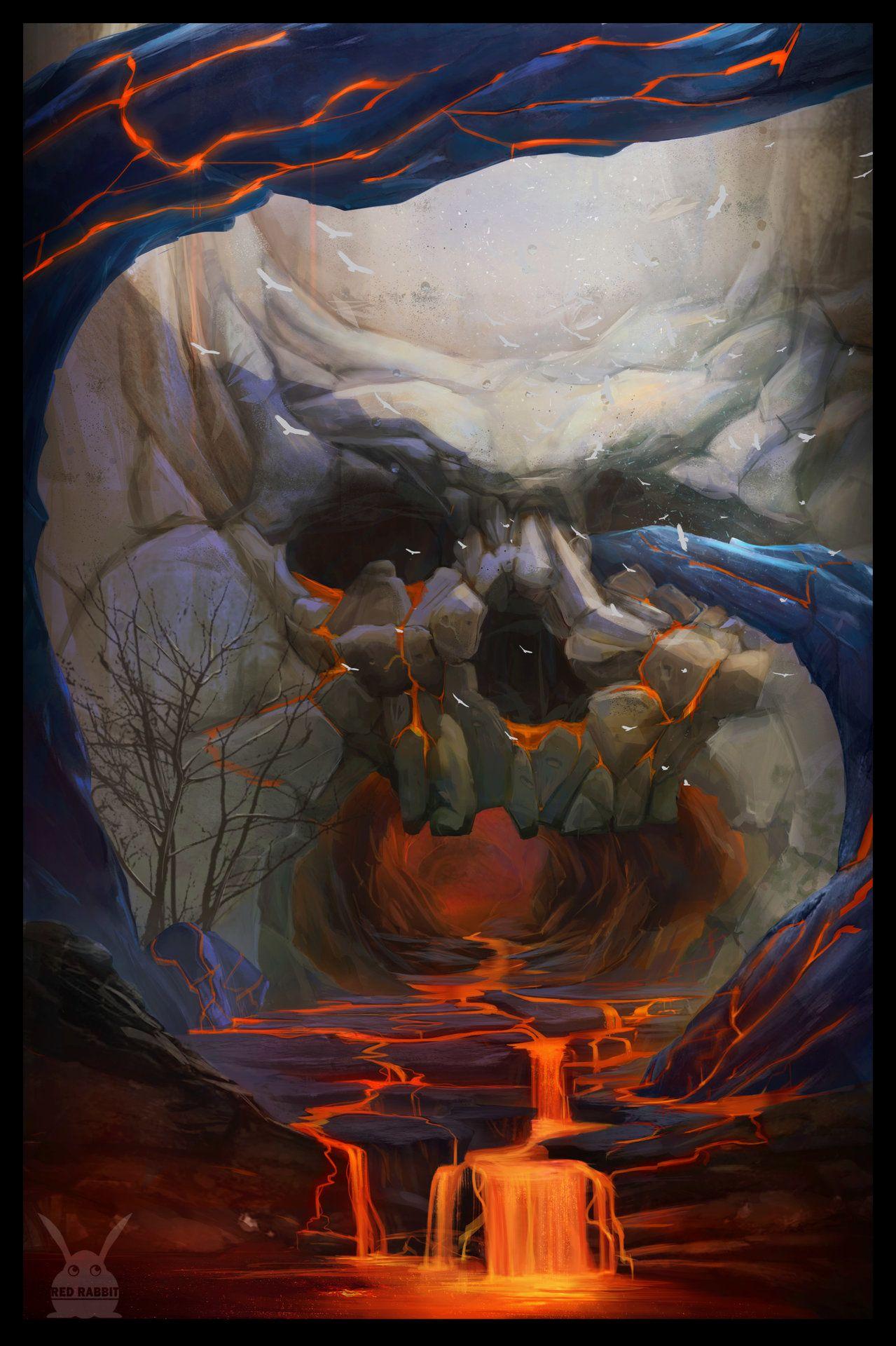 ArtStation - Skull, Red Rabbit