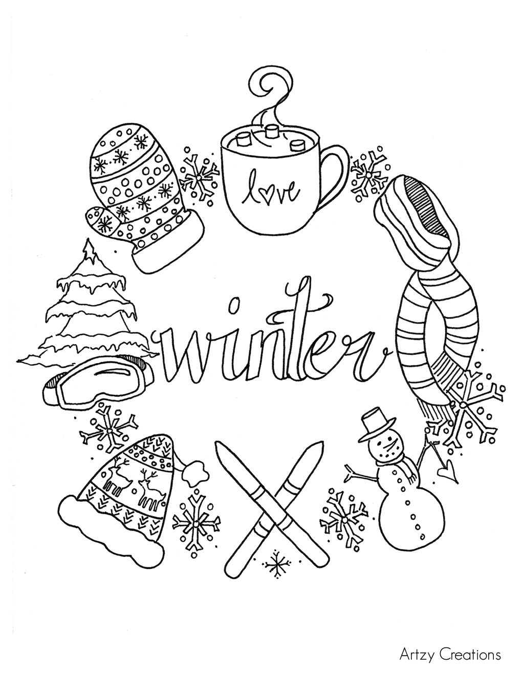 Free-Winter-Coloring-Page-Artzy-Creations-Page.jpg 1,020×1,320 ...