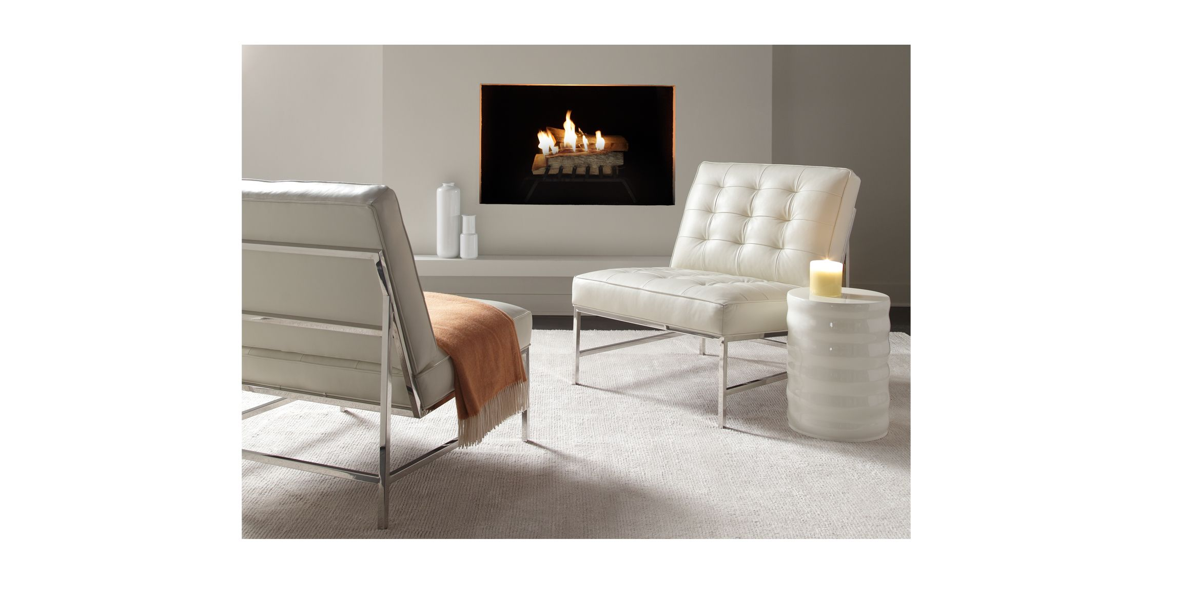 Great Lounge Chair Option / Major Chair Polished Stainless Steel Finish   Mitchell  Gold + Bob Williams
