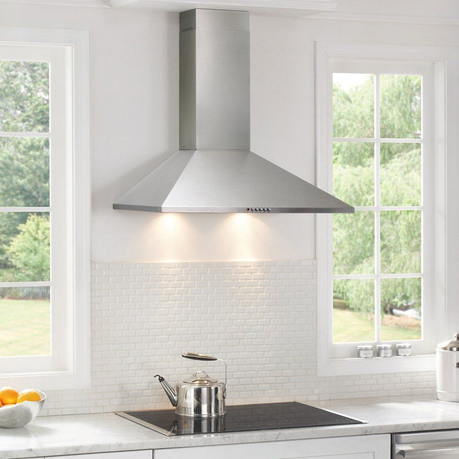 Frigidaire Convertible Wall Mounted Range Hood Stainless Steel Common 30 In Actual 29 875 In Stainless Range Hood Range Hood Stainless Steel Range Hood