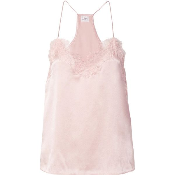 Racer Lace-trimmed Silk-charmeuse Camisole - Pastel yellow Cami NYC New Arrival Fashion Clearance Professional Sneakernews Sale Online Popular Cheap Price f5cP0ouubN