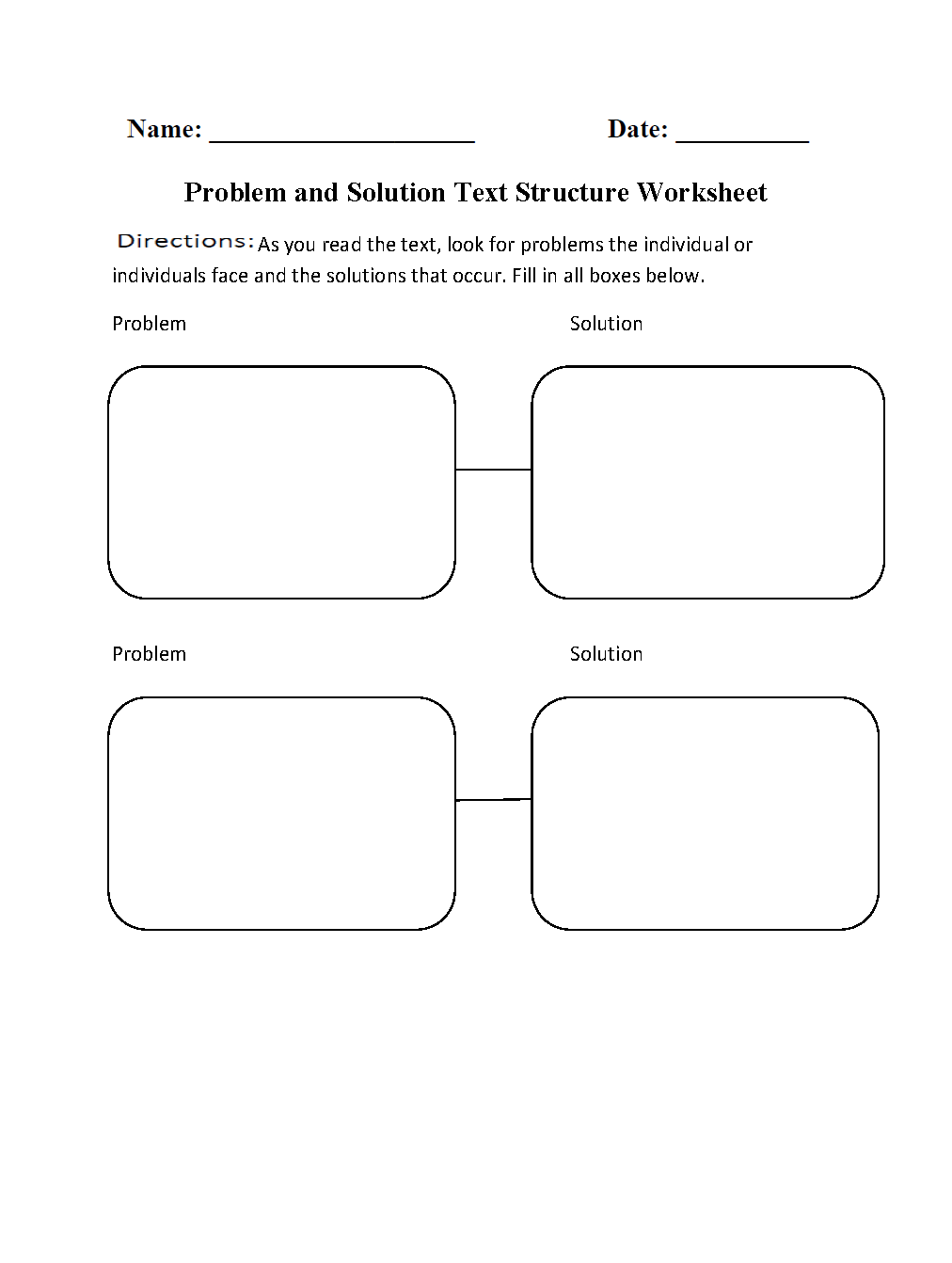 worksheet Sequential Order Worksheets problem and solution text structure worksheet englishlinx com board pinterest structures texts