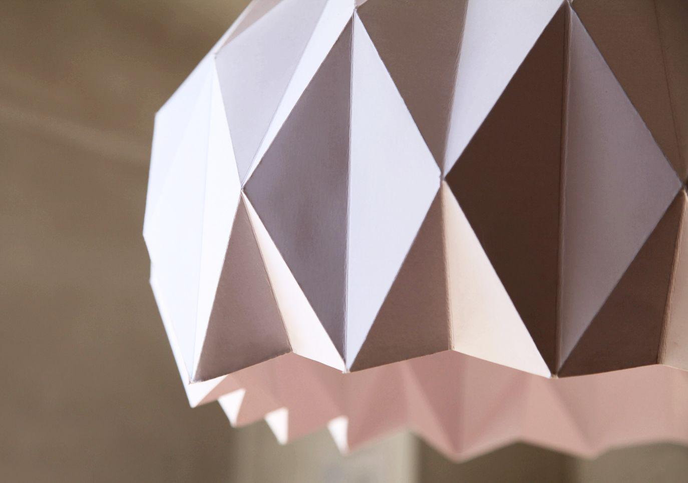 dyi origami pendant lamp lemonrock diy must do. Black Bedroom Furniture Sets. Home Design Ideas