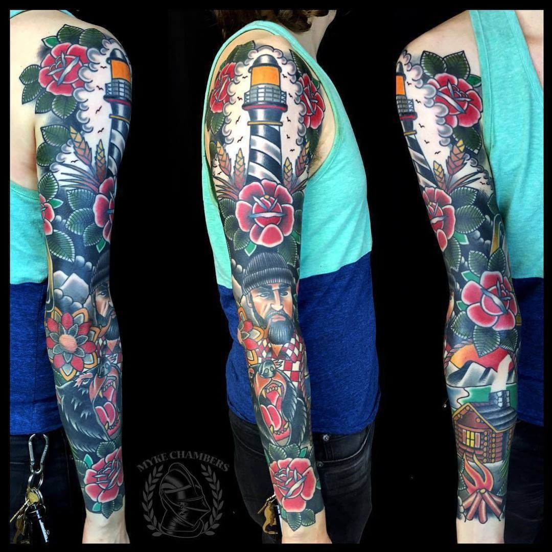 Traditional Tattoo Sleeves: It's A Pleasure Watching Large Scale Projects Come To Life
