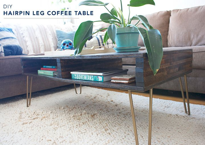 diy hairpin leg coffee table tutorial. and, it has storage! | on
