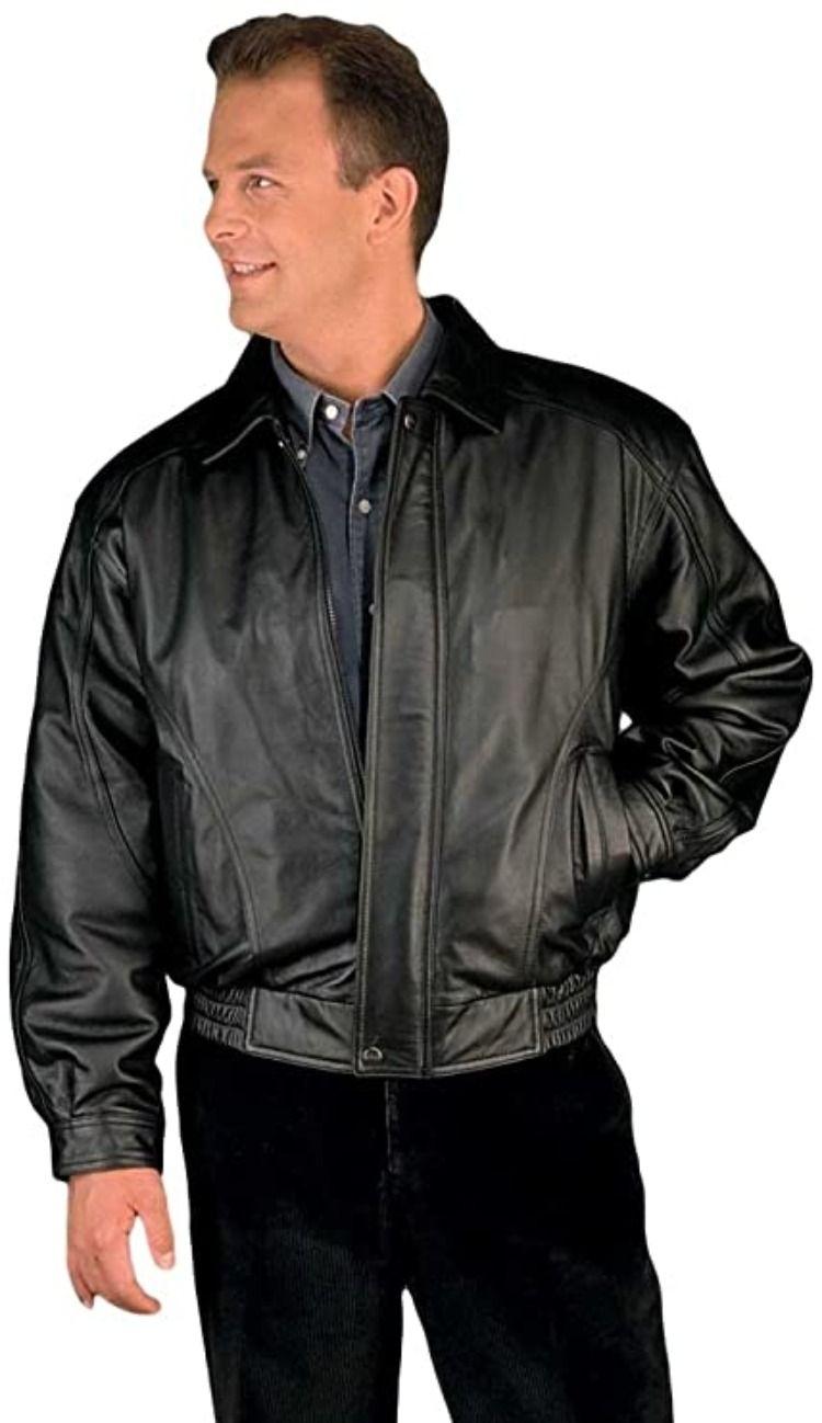 Reed Men S American Style Bomber Genuine Leather Jacket Leather Jackets Online Leather Jacket Men Leather Jacket Black [ 1298 x 750 Pixel ]
