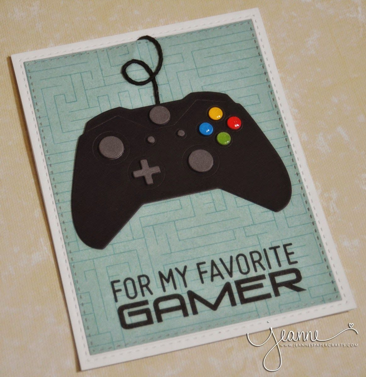 jeanne's paper crafts for my favorite gamer  cool