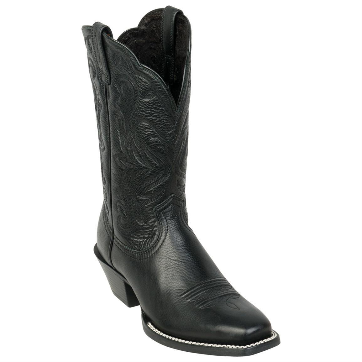 19df26b2466 Women's Ariat® 11 inch Legend Western Boots, Black Deertan ...